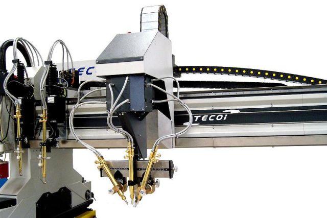 Tecoi - wycinarka plazmowa - głowica gazowa
