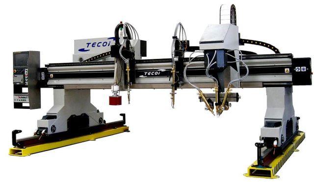 Tecoi - wycinarka plazmowa - mostek roboczy